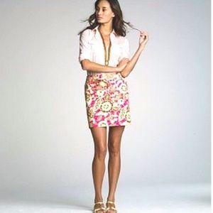 J. Crew Floral Mini Skirt Size 4